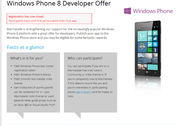 Marmalade Windows Phone 8 Contest - Developer House
