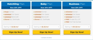 Plans of HostGator