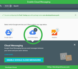 Enable Cloud Messaging