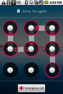 Android : Too many pattern attempts Solution
